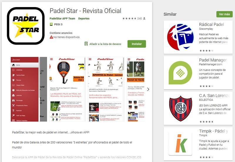 padelstar app